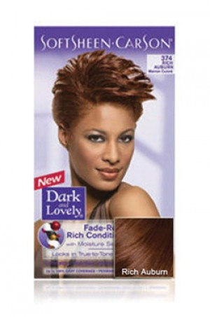[Dark & Lovely-box#4] Soft Sheen Carson-#374 Rich Auburn