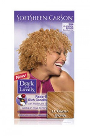 [Dark & Lovely-box#4] Soft Sheen Carson-#384 Light Golden Blonde
