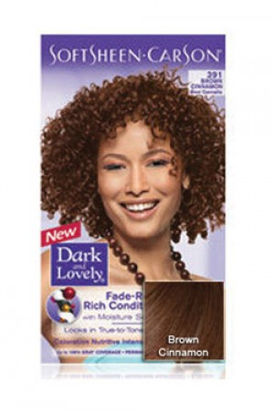 [Dark & Lovely-box#4] Soft Sheen Carson-#391 Brown Cinnamon