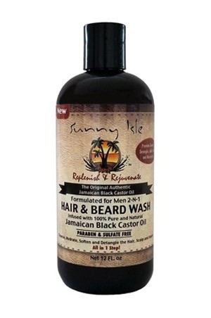 [Sunny Isle Jamaican Black Castor Oil-box#39] JBCO Hair & Beard Wash (12 oz)