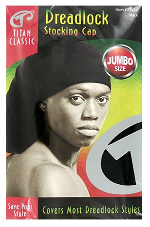 [Titan#22138] Dreadlock Stocking Cap Jumbo -Black-dz