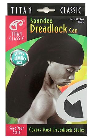 [Titan#22146] Spandex Dreadlock Cap Super Jumbo -Black -dz