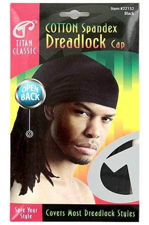 [Titan#22152] Cotton Spandex Dreadlock Open Back -Black -dz