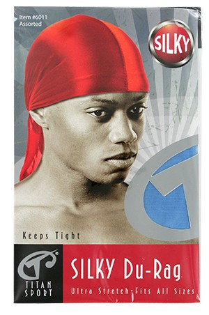 [Titan#6011] Silk DuRag Ultra Strech -Assorted Red -dz