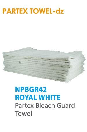 Partex Beach Guard Towel #NPBGR42 Royal White -dz