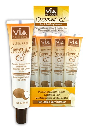 [Via Natural-box#70] Coconut Oil Tube 1.5oz (24pc/ds)