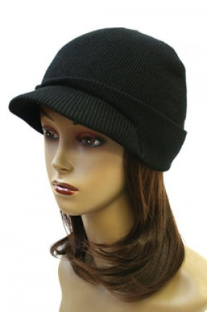 Winter Visor Cap #1972 Black - Dz