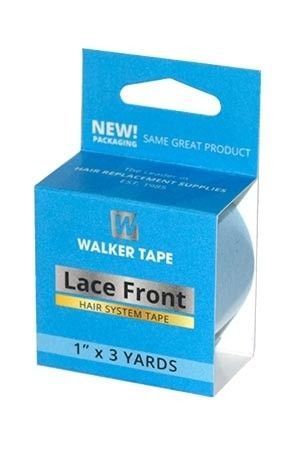 """[Walker Tape-box#21] Lace Front Support Tape Blue Liner 1"""" X 3yds"""