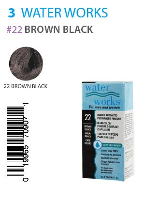 [Water Works-box#3] #22 Brown Black (0.21oz)