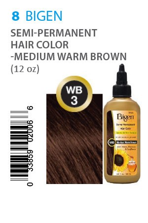 [Bigen-box#8] Semi-Permanent Hair Color #WB3 Medium Warm Brown