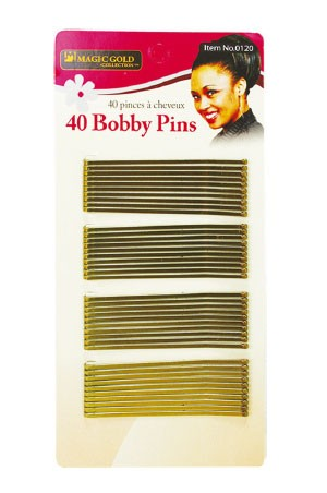 [Magic Gold-#0120] 40 Bobby Pins (Gold) -dz