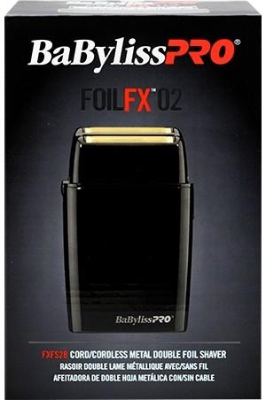 [Babyliss Pro-#FXFS2B] Cord/Cordless Double Foil Shaver-Black -pc