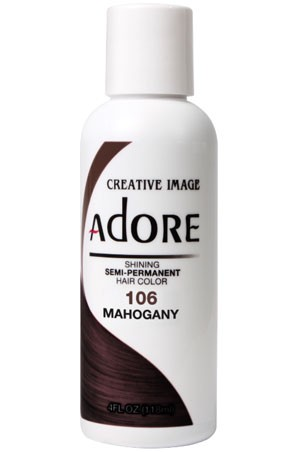 [Adore-box#1] Semi Permanent Hair Color (4 oz)- #106 Mahogany