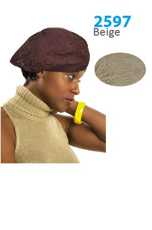 Winter Hat #2597 Beige - pc