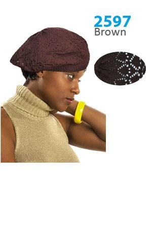 Winter Hat #2597 Brown - pc