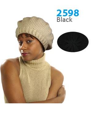 Winter Hat #2598BK - pc [Black]