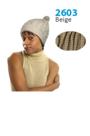 Winter Hat #2603 Beige - pc