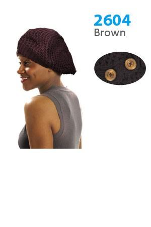 Winter Hat #2604 Brown - pc