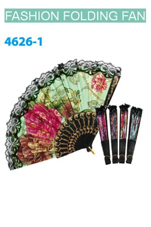 Magic Gold Fashion Folding Fan #4626-1 - dz