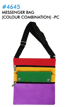 [#4645] Messenger Bag (colour combination) -pc