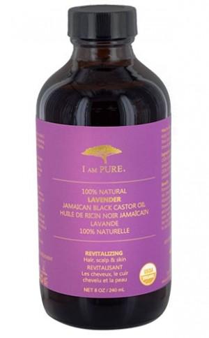 [I Am Pure-box#5] 100% Natural Jamaican Blk C. Oil-Lavender (8oz)