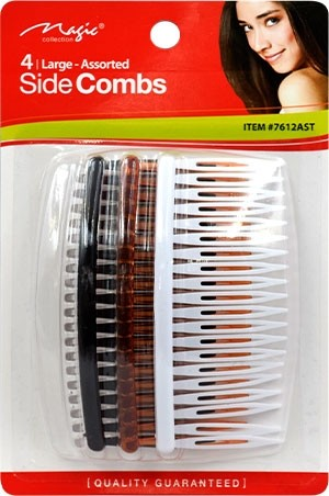 """[Magic Collection #7612AST] Side Comb 4"""" (4pc/cd)-dz"""