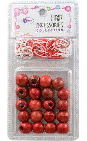 [Tara] Bead (22pc) #75614 Wood/Poly  band-pc