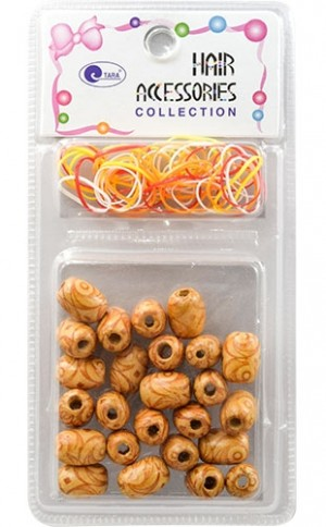 [Tara] Bead (26pc) #75615 Wood/Poly  band-pc