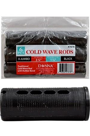 [#7878] Donna Cold Wave Rods X- Jumbo Black -dz