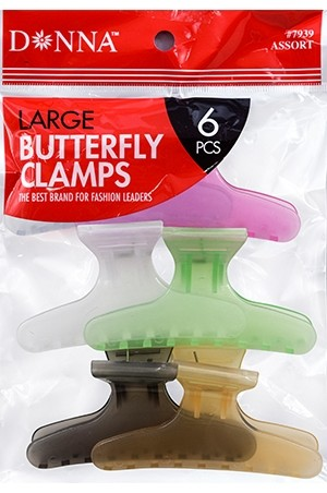 [#7939] Donna Butterfly Clamps-LG(6pc) -pk