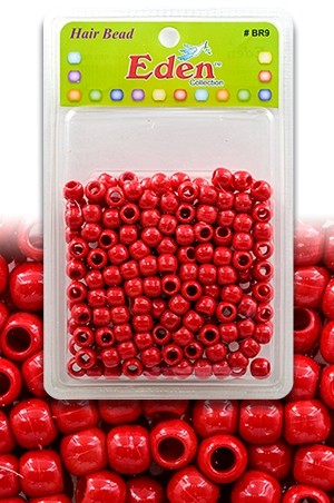 Eden XLG Blister Med Round Bead-Red#BR9RED-pk