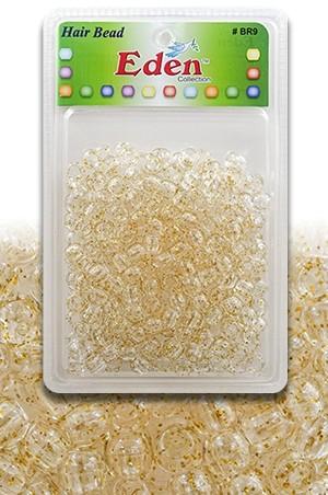 [#BR9GG] Eden XLG Blister Med Round Bead-Gold&Glitter -pk