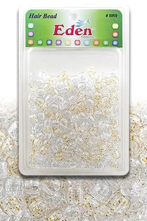 [#BR9GSG] Eden XLG Blister Med Round Bead-Gold&Sil. Glitter -pk