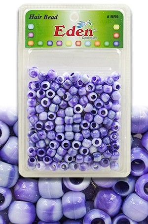 [#BR9WPUR] Eden 2 Tone XLG Blister Med Round Bead-Pur -pk