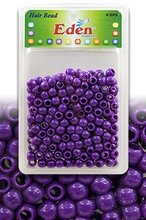 [#BR9PUR] Eden  XLG Blister Med Round Bead-Pur -pk