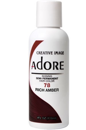 [Adore-box#1] Semi Permanent Hair Color (4 oz)- #78 Rich Amber