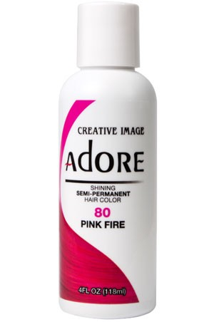 [Adore-box#1] Semi Permanent Hair Color (4 oz)- #80 Pink Fire