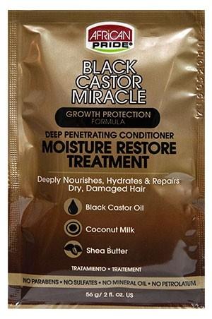 [African Pride-box#88] Black Castor Condi. Treatment(2.0oz)_8pc/DS
