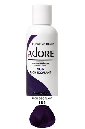 [Adore-box#1] Semi Permanent Hair Color (4 oz)- #186 Rich Eggplant