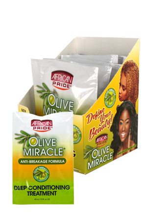 [African Pride-box#60] Shea Olive Miracle Deep Cond Treat (1.5oz)_8pc/ds