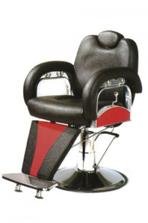 BARBER CHAIR B-906 Dark Brown & Red