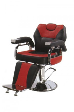 BARBER CHAIR B-912 Black & Red