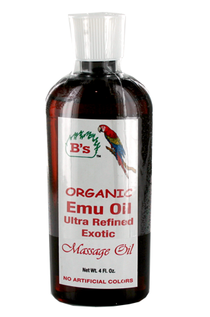 [B's Organic-box#2] Emu Oil Massage Oil (4oz)