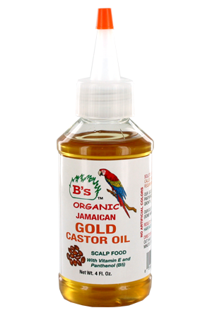 [B's Organic-box#7] Gold Castor Oil _Scalp Food (4oz)