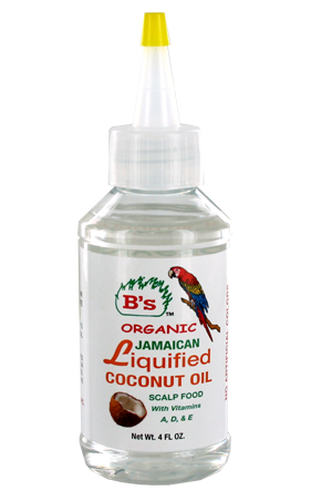 [B's Organic-box#3] Liquified Coconut Oil _ Scalp Food (4oz)