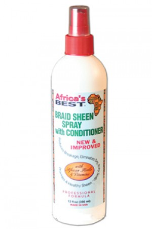 [Africa's Best-box#13] Braid Sheen Spray with Conditioner (12 oz)
