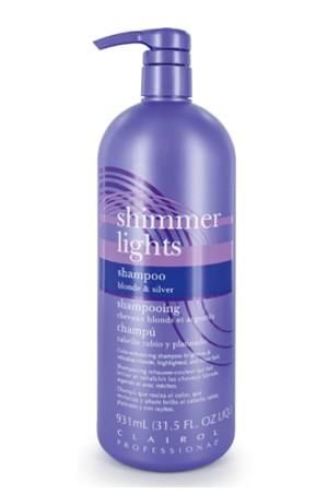 [Clairol-box#10] Shimmer Lights Shampoo Blonde & Silver (31.5 oz)