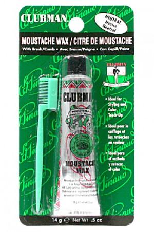 [Clubman-box#1] Moustache Wax w/ Brush (0.5 oz)