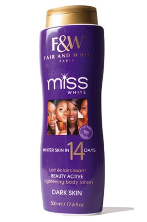 [Fair & White-box#39] Miss White Lightening Lotion 14 days (500 ml)