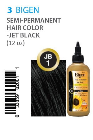 [Bigen-box#3] Semi-Permanent Hair Color #JB1 Jet Black